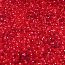 Metallic Gold & Red Dots on Dark Red, Kaufman Cotton Fabric, Per 1/2 Yd