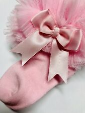Baby Girls Pink Frilly Bow Lace Tutu Socks Infant Newborn Toddler Ankle Socks