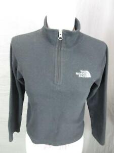 The North Face Size S(7-8) Boys Black Outdoor Fleece Half-Zip Pullover T964