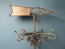 More details for vintage wrought iron blacksmiths made weather vane