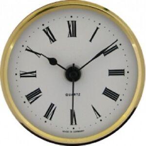 New Quartz Clock Insertion Movement 65mm Diameter Roman Numerals - CM531