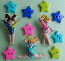 TINY TUMBLERS - Gymnastics Olympics Sport Girl Novelty Dress It Up Craft Buttons