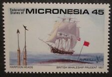 1990 Scott 112 Micronesia British Whale Ship Prudent 1827 one new 45 cent at FV