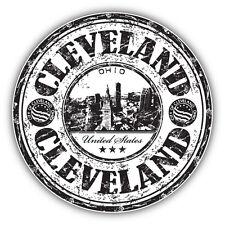 "Cleveland City Ohio United States Grunge Travel Car Bumper Sticker Decal 5"" x 5"""