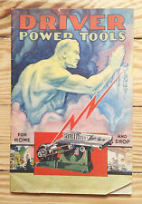 Driver Power Tools, Woodworking price list catalogue 1932, saws drills hardware