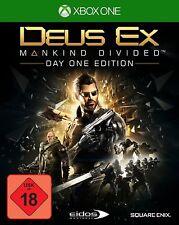 XBOX ONE jeu DEUS EX Mankind Divided DAY 1 Edition nouvelle partie