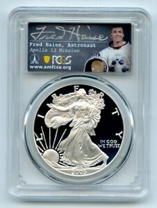 2005 W $1 Proof American Silver Eagle PCGS PR70DCAM Fred Haise