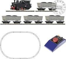 ROCO 31029 start set analogico in scala H0e con carri e loco vapore 1/87