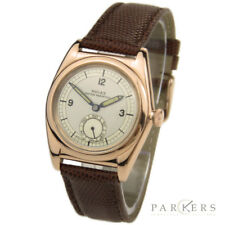 ROLEX OYSTER PERPETUAL 14K ROSE GOLD AUTOMATIC WRISTWATCH DATING CIRCA 1945