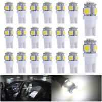 20Pcs T10 168 2825 194 W5W LED Car Interior Light 6000K License Plate Bulb White
