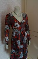 TOGETHER LIGHT BROWN/TAN TWO PIECE FLORAL  DRESS SZE 10, 12,16 AND 18 CLEARANCE