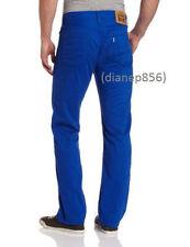 LEVI'S 514 Straight Leg Twill Pants - Men's 34 X 32 (Electric Blue) NWT