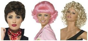 Adult Grease Rizzo Frenchy Sandy Pink Ladies Fancy Dress Wig