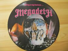 """MUSIC FOR NATIONS MFN 46 12"""" 33RPM '85 MEGADETH """"KILLING IS MY BUSINESS"""" PIC EX"""