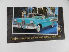 Franklin Mint 1958 EDSEL CONVERTIBLE Brochure Pamphlet Mailer