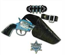 Cowboy Gun Set (Single) Fake Plastic Childs Toy, Fancy Dress Accessory Prop