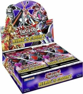 Yugioh King's Court Booster Box 24 Packs Brand New Factory Sealed Presale 7/08