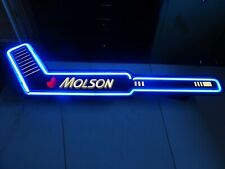 New listing Molson Beer Neon light up Hockey Stick Nhl bar pub sign Canada rare