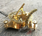 Vintage Vintage London west maritime antique SUNDIAL COMPASS brass nautical