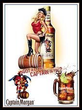 Captain Morgan Spiced Rum, Retro metal sign/Plaque man cave pub bar wall