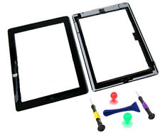 IPad 3 iPad3 Front Touch Screen Digitizer Lens pannello Pulsante Home Nero Tools UK