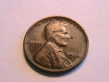 1924-S Lincoln One Cent Solid Very Fine VF+ Brown Original Wheat 1 Penny Coin