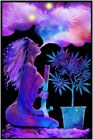 CANNABLISS BLACKLIGHT POSTER FLOCKED SEXY WEED HOT GIRL POT - 23 X 35