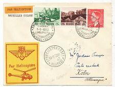 CPA PK AK AVIATION SABENA PAR HELICOPTERE BRUXELLES-COLOGNE 1953
