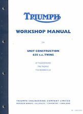 Triumph Bonneville Workshop Manual  TR6 T120 650  UK USA 1963-1970