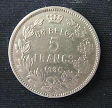 Munt België/Belgique: 5 FRANCS 1930 Pos.B (franse legende)