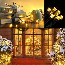 20M 100//200 LED Solar String Lights Waterproof Copper Fairy /&Garden Outdoor M3D6
