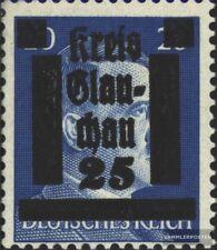 Glauchau (Sachsen) 10 mit Falz 1945 Lokaler Überdruck
