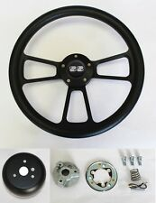 "New! 1968 Chevrolet Camaro Black on Black Steering Wheel 14"" SS center cap"