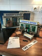 Playmobil Klicky superbe Sheriff Office 3423 western vintage Notice Stickers