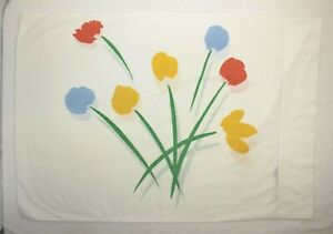 Vintage 1976 Marimekko Dan River Tulip Flower Print Standard Pillowcase EUC