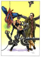 LARGE SPIDERMAN/DOC OCK/CATWOMAN PRINT-  Tom FLEMing