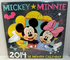 "MICKEY & MINNIE - 2014 Disney Calendar / 10"" x 10"""