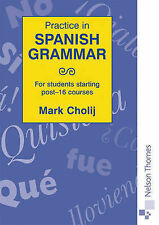 Practice in Spanish Grammar: For Students Starting Post-16 Courses-ExLibrary