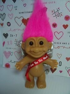 """VALENTINE I LOVE YOU THIS MUCH -  5"""" Russ Troll Doll - NEW IN ORIGINAL WRAPPER"""