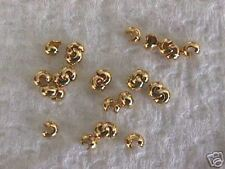 Gold Plated Crimp Cover Knot Cover Beads 3mm 40pc