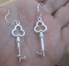 Silver Key Earring
