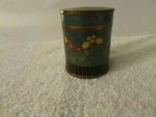 Vintage Brass Container Hand Painted Bowl With Lid