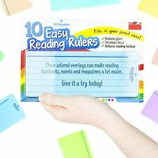 More details for 10 x reading aid rulers eye level coloured overlay for dyslexia visual stress uk