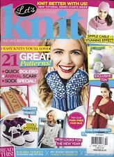 Let's Knit magazine 21 patterns Simple cable Modern makes Animal scarf Bolero