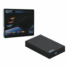 "CIT 2.5"" & 3.5"" USB 3.0 SATA HDD enclosure m35tu3 Tooless-Nero il supporto 4tb HD"