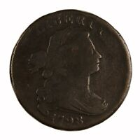 Raw 1798 Draped Bust 1C S-187 R1 Double Leaves Top Right EAC Large Cent
