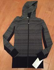 Lululemon Daily Practice Jacket, Size 4, SDSF/BLK, MSRP $128**FREE TOTE