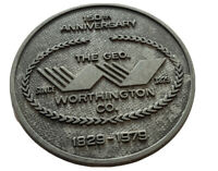 150TH GEO WORTHINGTON CO HARDWARE DEALER CLEVELAND OHIO METAL DISC ADVERTISING