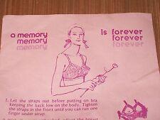 Vintage 'MEMORY' Bra! Cotton, Nylon! New Old STOCK! many sizes!