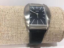 Reloj Watch Montre ALFEX Moments - Quartz 33 x 30 mm Steel - Black Leather
